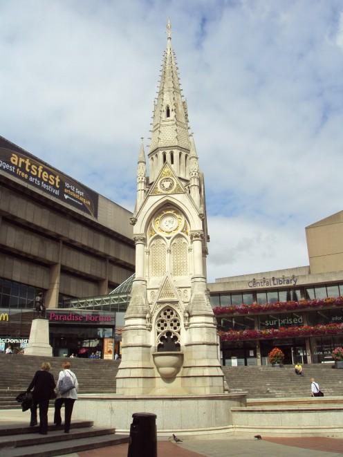 The Chamberlain Memorial, Chamberlain Square, Birmingham, England.
