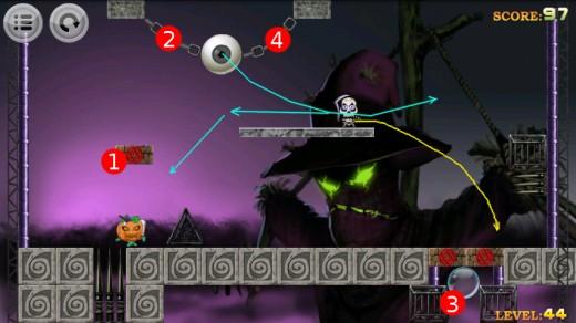 Devil hunter walkthrough for level 44.