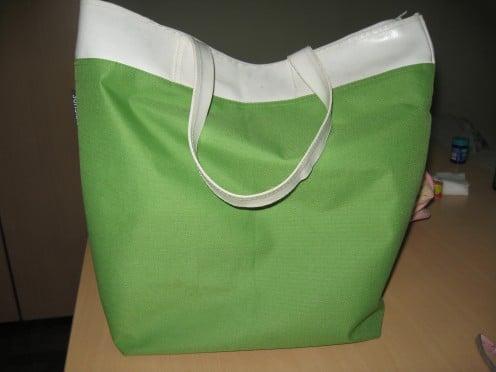 a green bag
