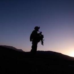 One Man With an Assault Rifle.  Mental Balance ... ?