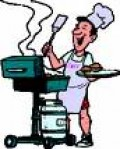 An animated barbecuer