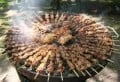 Barbecued kebabs - they look like a work of art!