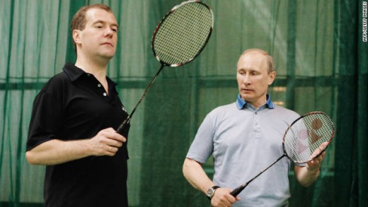 Putin, the Racket Ball Player