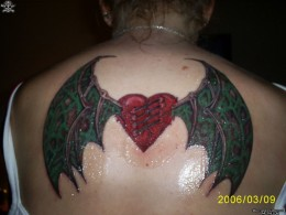 heart with dragon wings