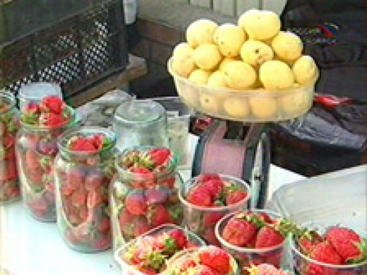 potatoes and stawberry