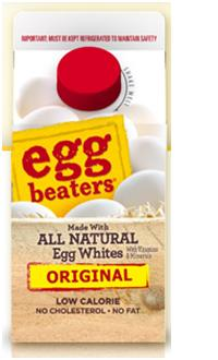 Products such as Eggbeaters® are not marketed as non-egg replacements, but as egg whites -- lower calorie, no cholesterol alternatives to whole eggs.