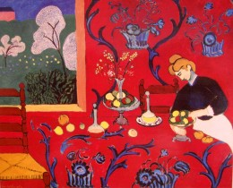 """Henri Matisse, """"The Red Room (Harmony in Red)"""" oil on canvas, 1908"""
