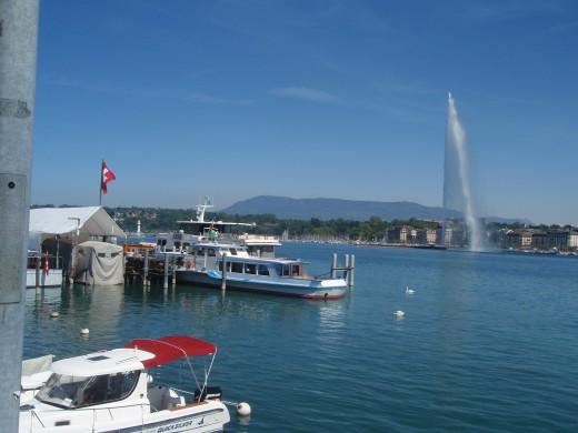 Lake Geneva - Jet d'Eau fountain