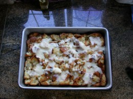 A very nice looking bread pudding!