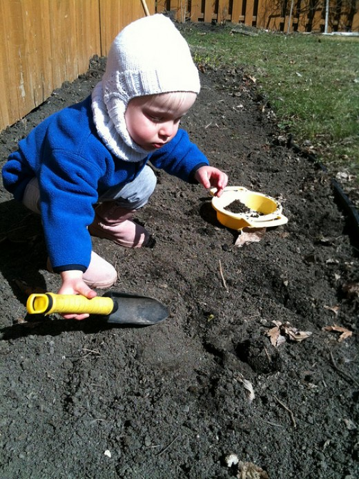 Even the smallest child can enjoy the gardening experience.