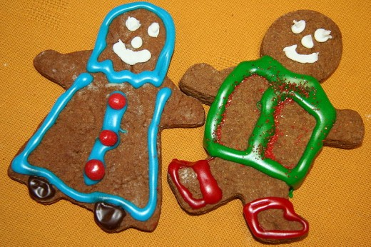 Decorated Gingerbread Woman & Man