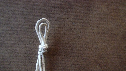 Step 4.3  The finished overhand knot.