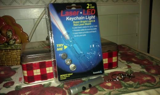 Laser-Led Keychain Light