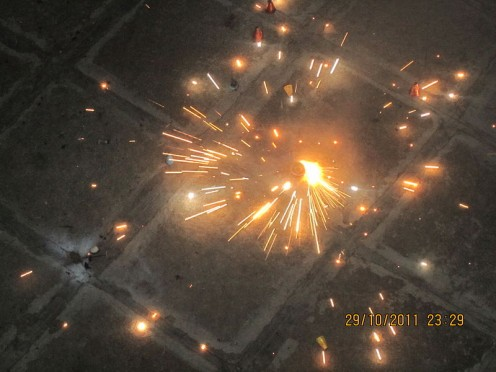 Fireworks Display During Diwali