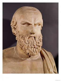 The bust of Aeschylus from the Capitoline Museums, Rome.