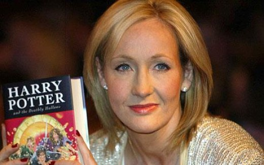 "J.K. Rowling, author of the ""Harry Potter"" series, arguably one of the most popular series' ever written."