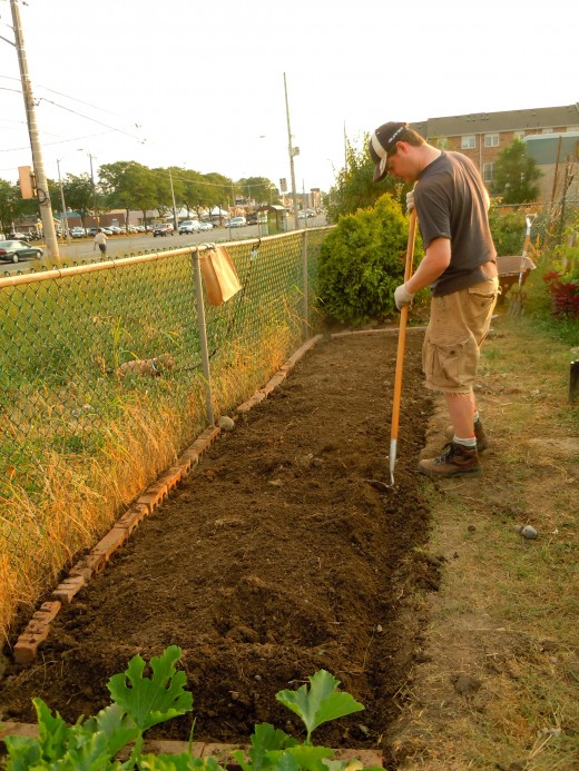Adding drainage.