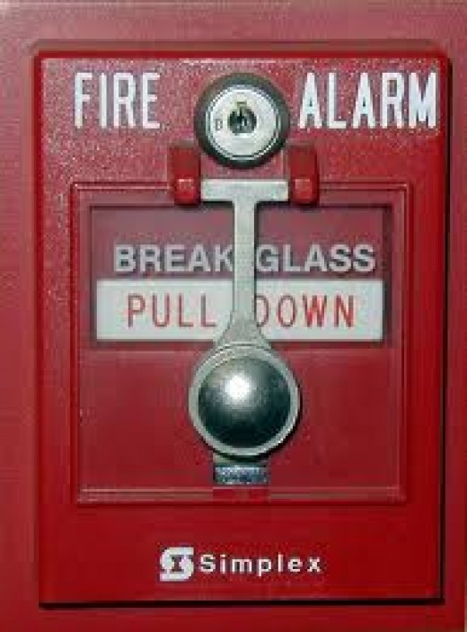 Fire alarm levers are tempting for children.