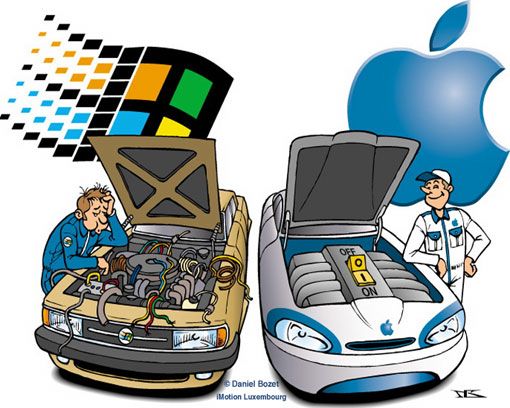 Mac versus PC (image source: http://media.odetoapple.com)