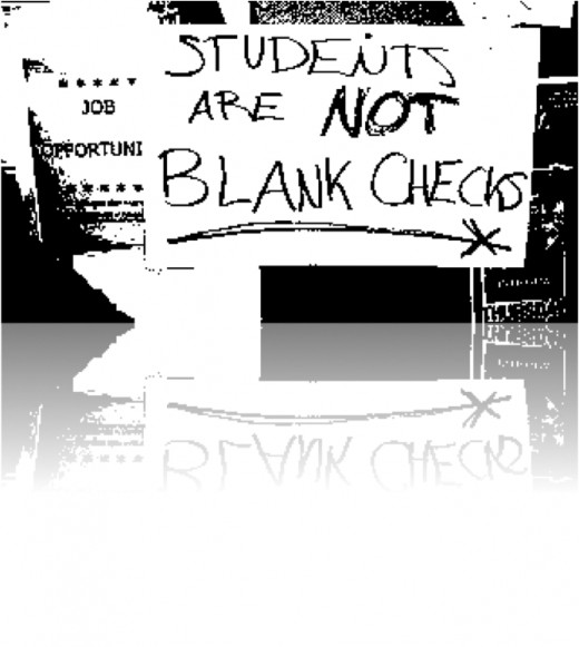 Students are not blank checks.