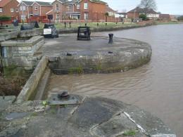 Spring tide on the River Parrett, Bridgwater, Somerset