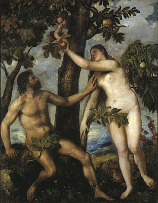 """Adam and Eve"" by Titian"