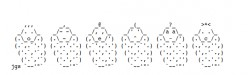Baby Things, Babies and Storks in ASCII Text Art for a Baby Shower