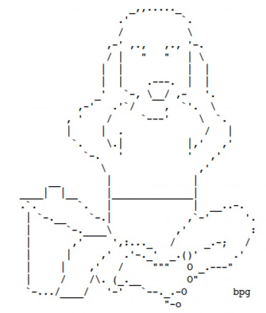 Baby things babies and storks in ascii text art for a for Ascii text decoration