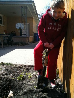 Kid-sized tools are easier for them to use, and safer also.