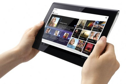 The Sony tablet operates on the Android 3.0 operating system and offers dual screen functionality.