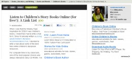 I received a 100 hub score my children's story books online hub in late February 2012