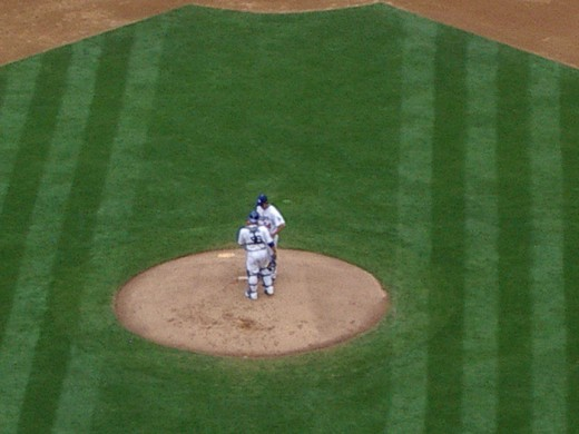 First-ever meeting on the mound. I still miss '07-08 Russell Martin (C).