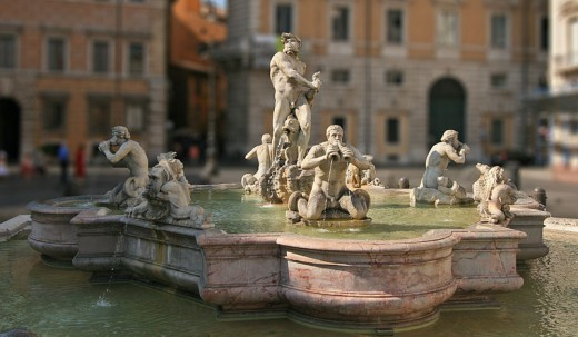 Fountain of the Moor in Piazza Navona