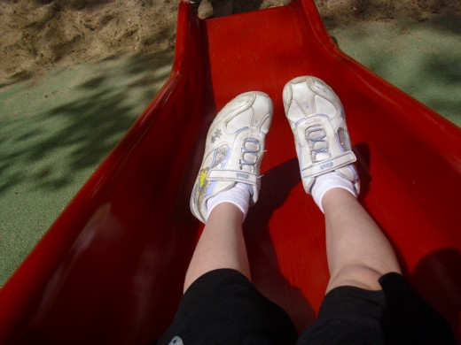 Slides are for sitting...