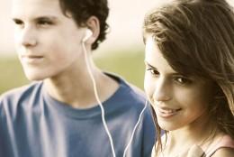 Teens in love...