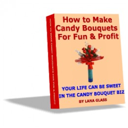 This book contains all the necessary information on how to create professional looking candy bouquets plus a lot of material on how to start a successful candy bouquet business