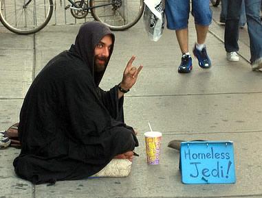 A homeless Jedi