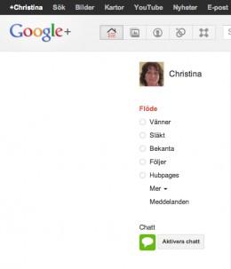Social network on Google+