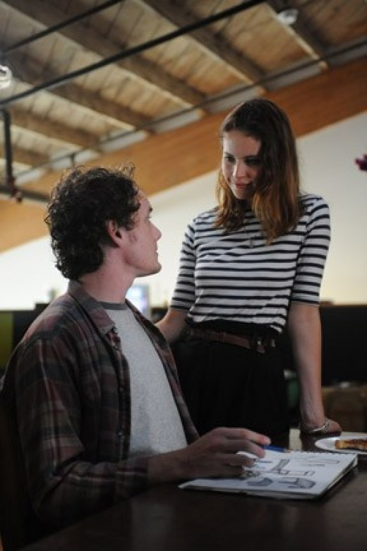 "Yelchin and Jones try to patch things up in ""Like Crazy."""