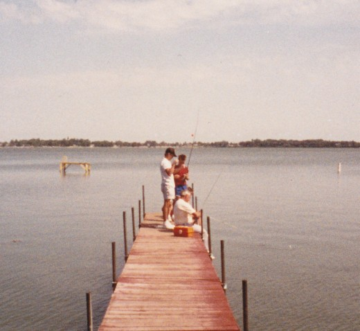 Pier at Clear Lake before it broke