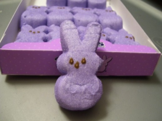 How can anyone resist that face! The bunny peeps are by far my favorite.