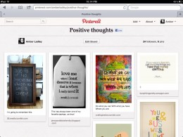 My Positive Thoughts Board on Pinterest