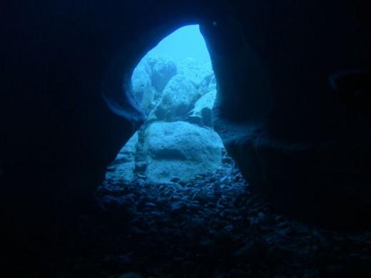 scuba in a cave?