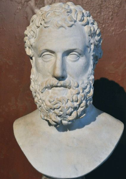 Bust of Aeschylus at the Neues Museum in Berlin.