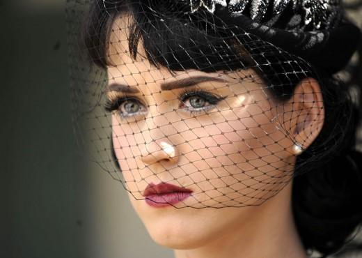 Katy Perry wearing veil