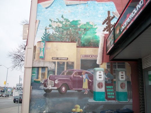 Spooner's Garage mural, Scarborough, Ontario