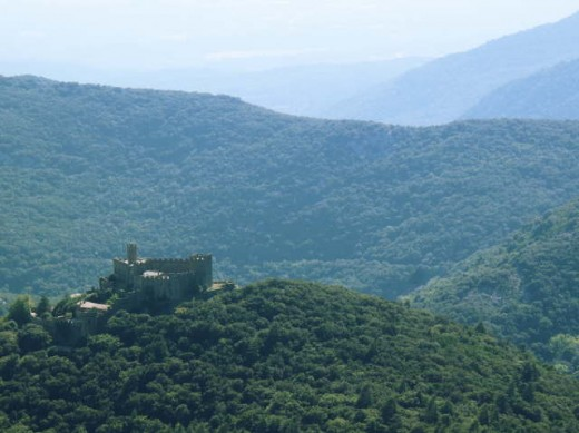 The 10th century castle at Requesens.