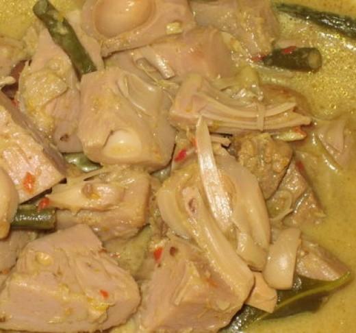 Gulai nangka muda (cubadak)/Young Jackfruit curry