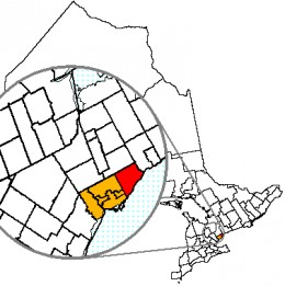 Map location of Scarborough, Toronto, Ontario