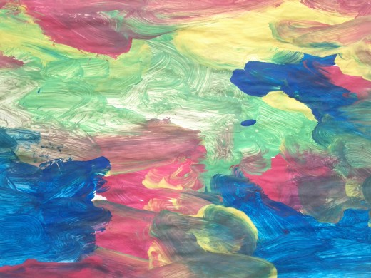 A colourful landscape from a childs perspective